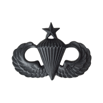 Tactical Gear Junkie Skill Badges Senior Jumpwings Subdued Skill Badge - Pin-On- Black Metal