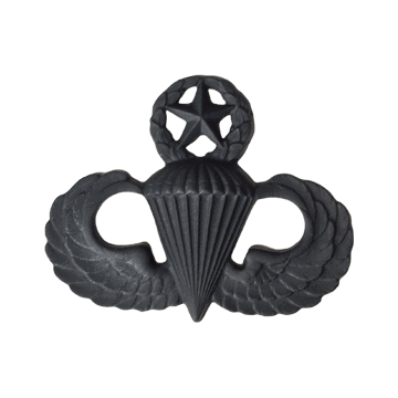 Tactical Gear Junkie Skill Badges Master Jumpwings Subdued Skill Badge - Pin-On- Black Metal