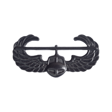 Tactical Gear Junkie Skill Badges Air Assault Subdued Skill Badge - Pin-On- Black Metal