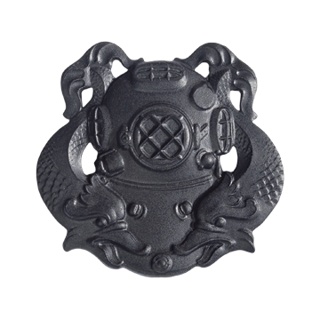Tactical Gear Junkie Skill Badges First Class Diver Subdued Skill Badge - Pin-On- Black Metal