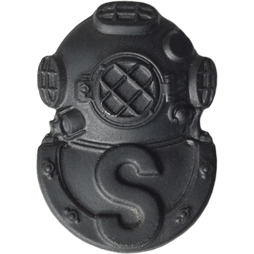 Tactical Gear Junkie Skill Badges Salvage Diver Subdued Skill Badge - Pin-On- Black Metal