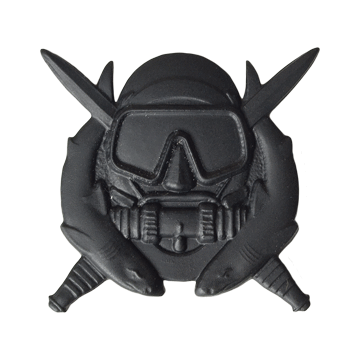 Tactical Gear Junkie Skill Badges Spec Ops Diver Subdued Skill Badge - Pin-On- Black Metal
