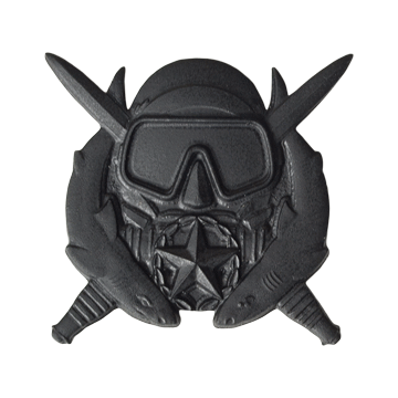 Tactical Gear Junkie Skill Badges Spec Ops Diver Supervisor Subdued Skill Badge - Pin-On- Black Metal