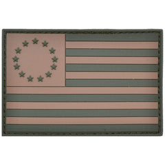 Betsy Ross USA Flag Coyote Brown / Olive Drab - 2x3 PVC Patch