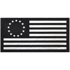 Betsy Ross Flag - 2x4 Leather Patch - Multiple Colors