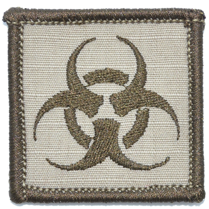 Tactical Gear Junkie Patches Desert Sand Biohazard - 2x2 Patch