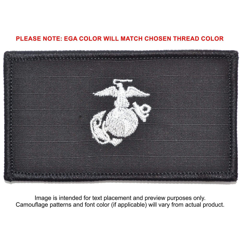 Tactical Gear Junkie Patches Black USMC Plate Carrier Flak Patch - Eagle Globe and Anchor Graphic (Filled Globe)