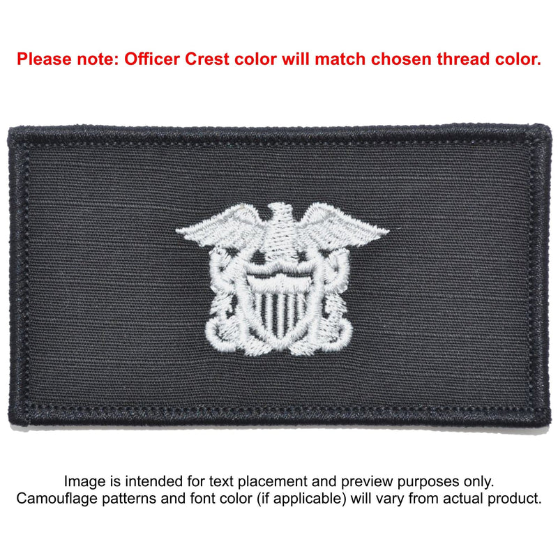 Tactical Gear Junkie Patches Black Custom US Navy Officer Combat Chest Plate Carrier Patch