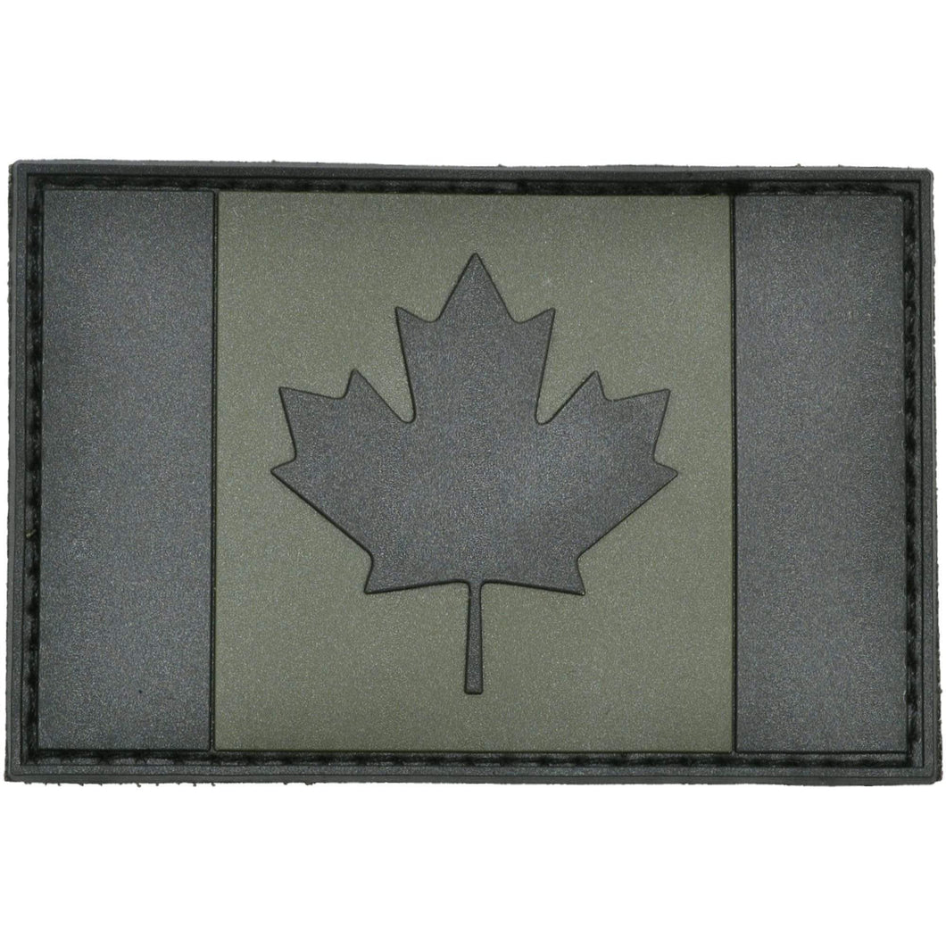 Canadian Flag Olive Drab - 2x3 PVC Patch