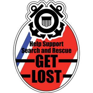 "United States Coast Guard Seal ""Get Lost"" - 4.5x3.5 inch Sticker"
