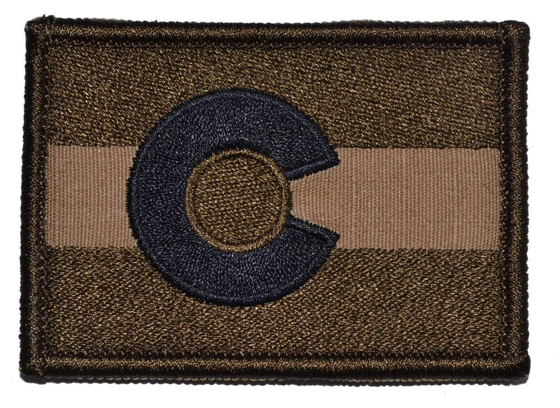 Tactical Gear Junkie Patches Coyote Brown Colorado State Flag - 2x3 Patch