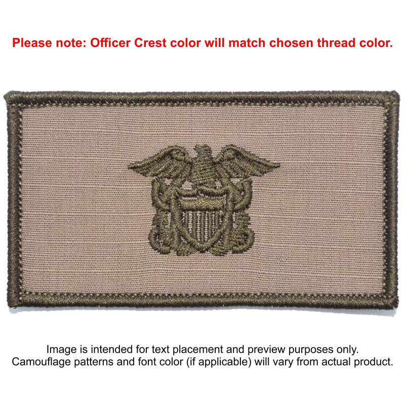 Tactical Gear Junkie Patches Coyote Brown Custom US Navy Officer Combat Chest Plate Carrier Patch