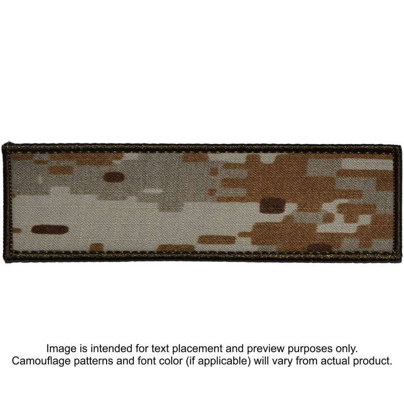 Tactical Gear Junkie Patches MARPAT Desert Custom Plate Carrier Text Patch - 3x10
