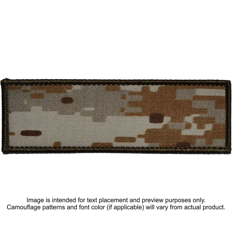 Tactical Gear Junkie Patches MARPAT Desert Custom Plate Carrier Text Patch - 3x9