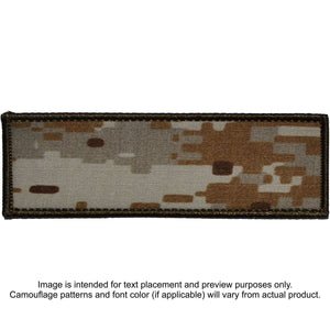 Custom Plate Carrier Text Patch - 4x12