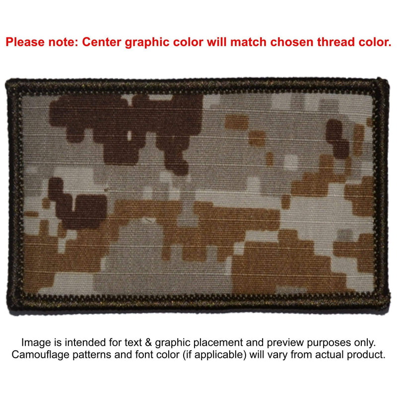 Tactical Gear Junkie Patches MARPAT Desert Custom Made Combat Plate Carrier Flak Patch - Custom Image