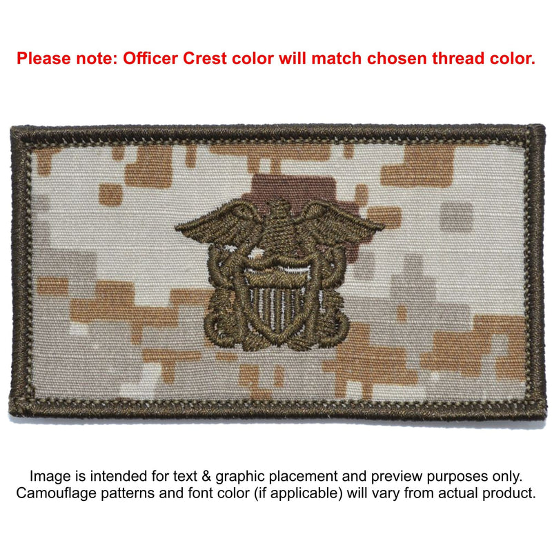Tactical Gear Junkie Patches MARPAT Desert Custom US Navy Officer Combat Chest Plate Carrier Patch