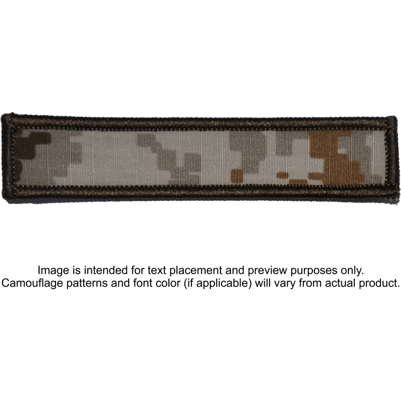 Tactical Gear Junkie Patches MARPAT Desert Custom Text Patch - 1x5