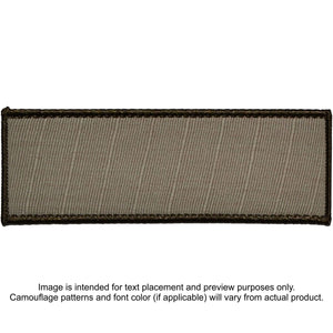 Custom Plate Carrier Text Patch - 4x11