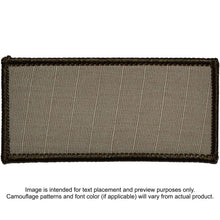 Custom Plate Carrier Text Patch - 3x6
