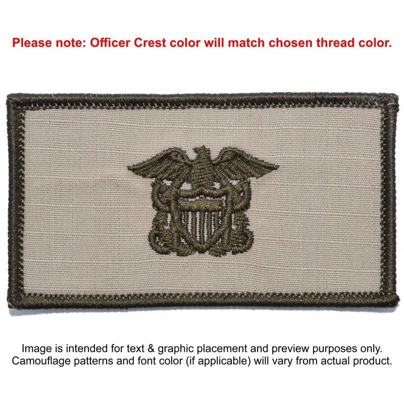 Tactical Gear Junkie Patches Desert Sand Custom US Navy Officer Combat Chest Plate Carrier Patch