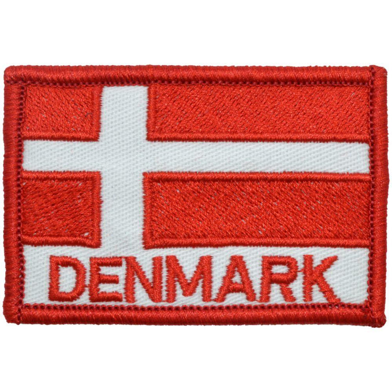 Tactical Gear Junkie Patches Full Color Flag of Denmark with Text - 2x3 Patch