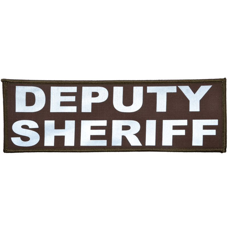 Tactical Gear Junkie Patches Sheriff's Brown Deputy Sheriff Reflective - 3x9 Patch