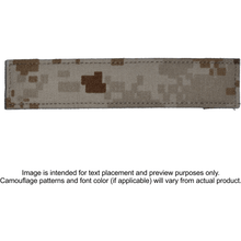 Single Custom Name Tape w/ Hook Fastener Backing - Desert Marpat