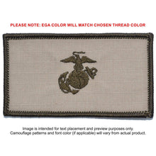 USMC Plate Carrier Flak Patch - Eagle Globe and Anchor Graphic (Filled Globe)
