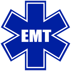 Star Of Life EMT - 4 inch Sticker