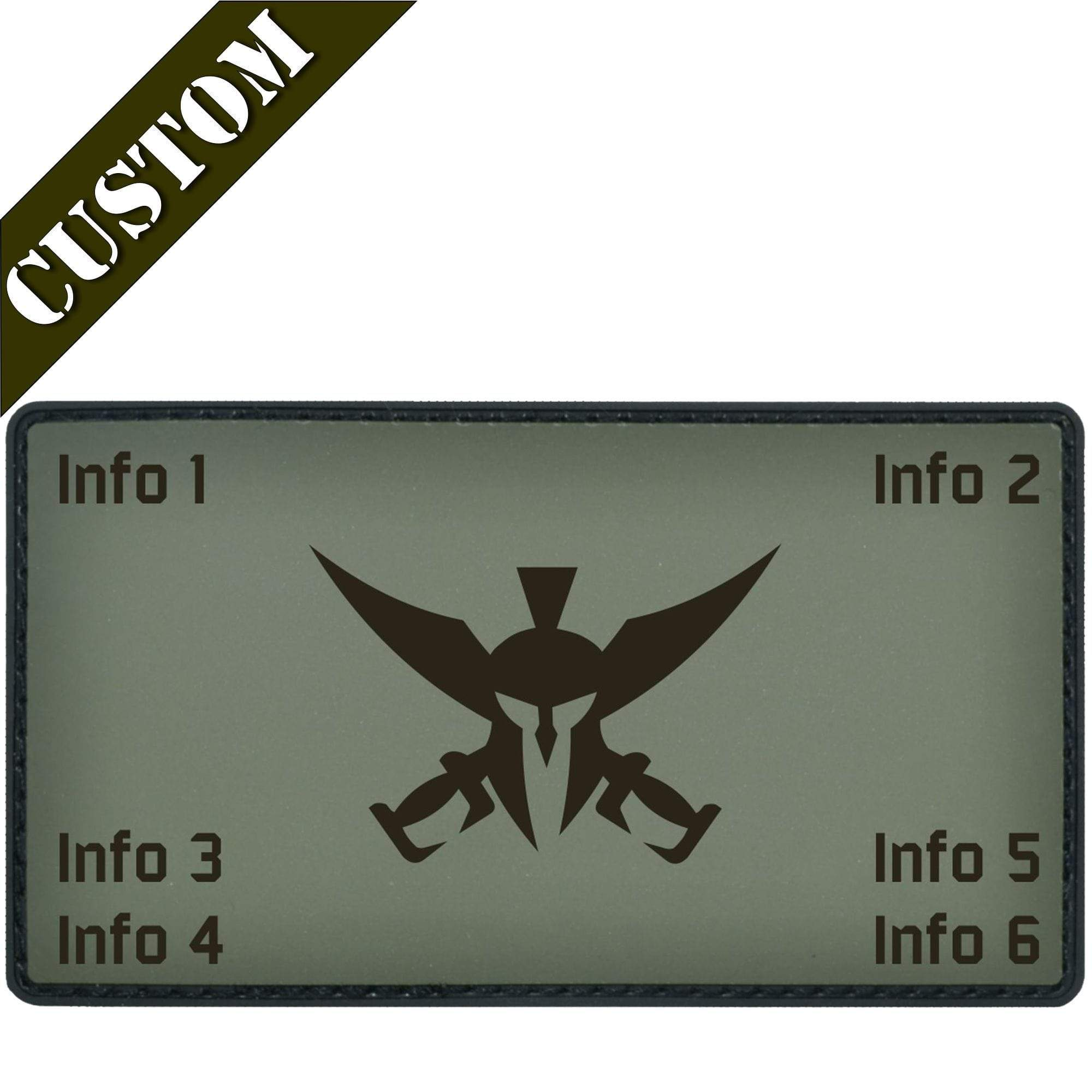 Custom Made Laser Engraved PVC Combat Plate Carrier Flak Patch - Custom Image