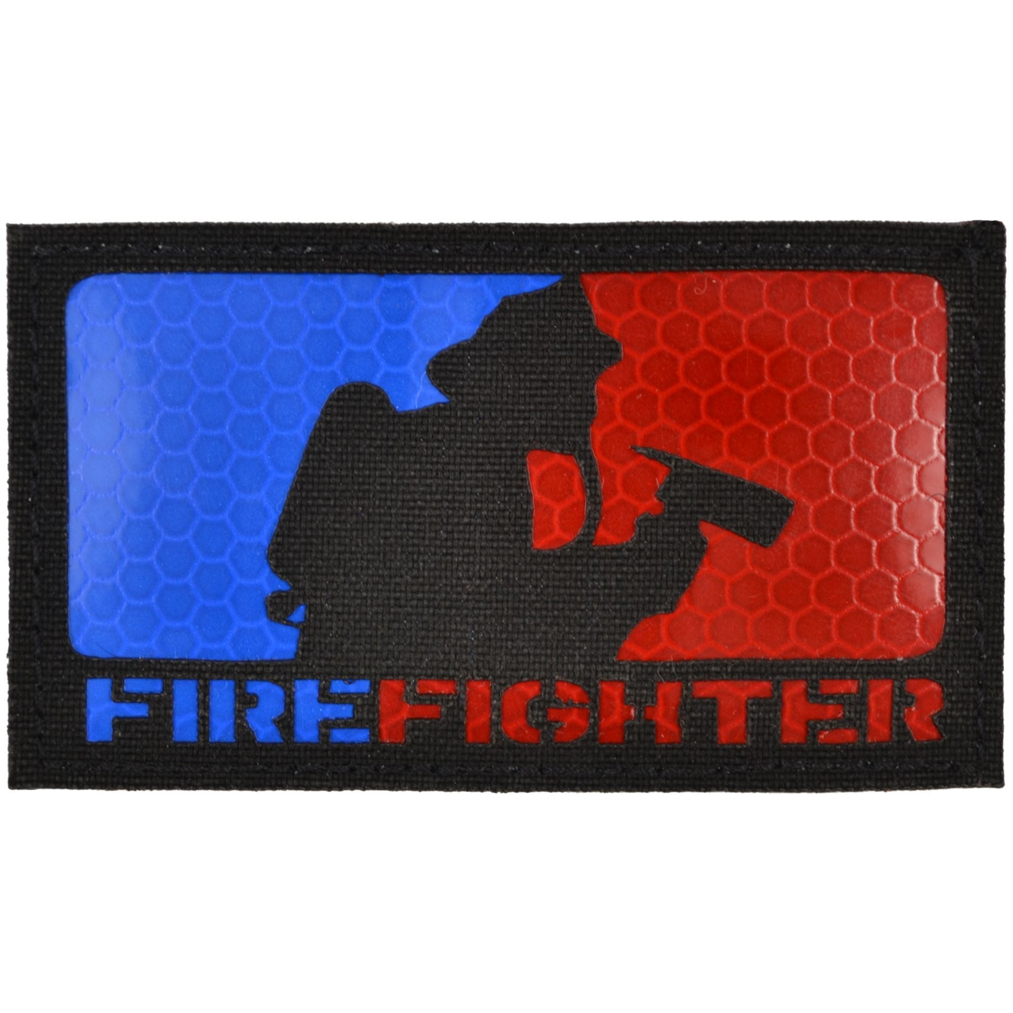 Firefighter Laser Cut Reflective - 2x3.5 CORDURA® Patch