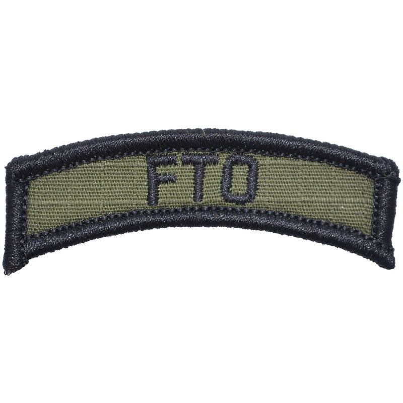 Tactical Gear Junkie Patches Olive Drab FTO Field Training Officer - Tab Patch