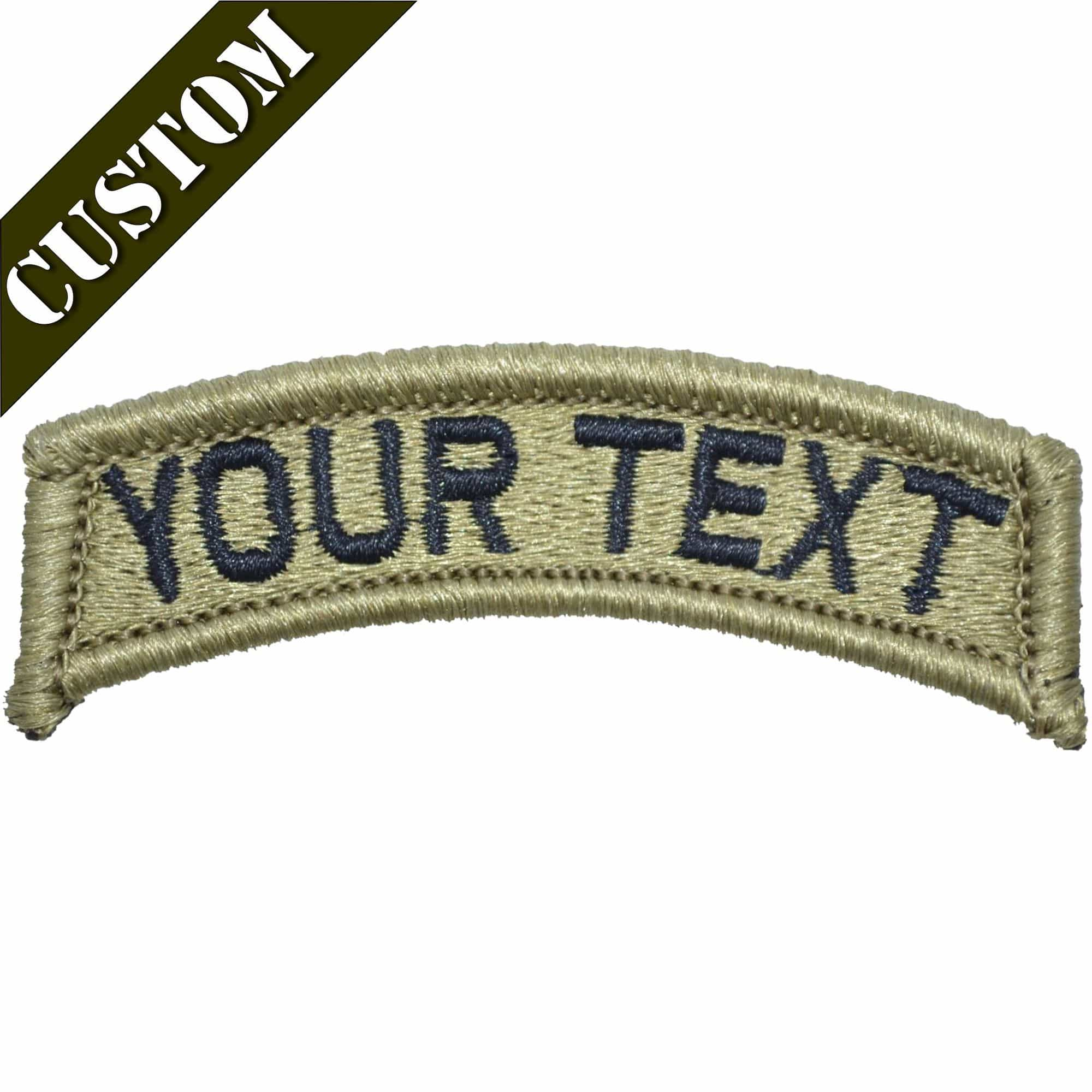 Custom Text Patch Fully Embroidered OCP/Black - Tab