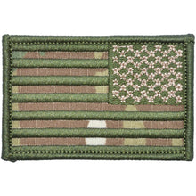 MultiCam USA Camo Flag with Green Stitching - 2x3 Patch