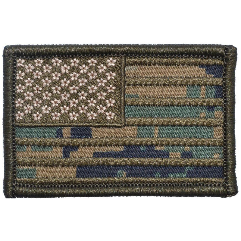 MARPAT Woodland USA Camo Flag - 2x3 Patch
