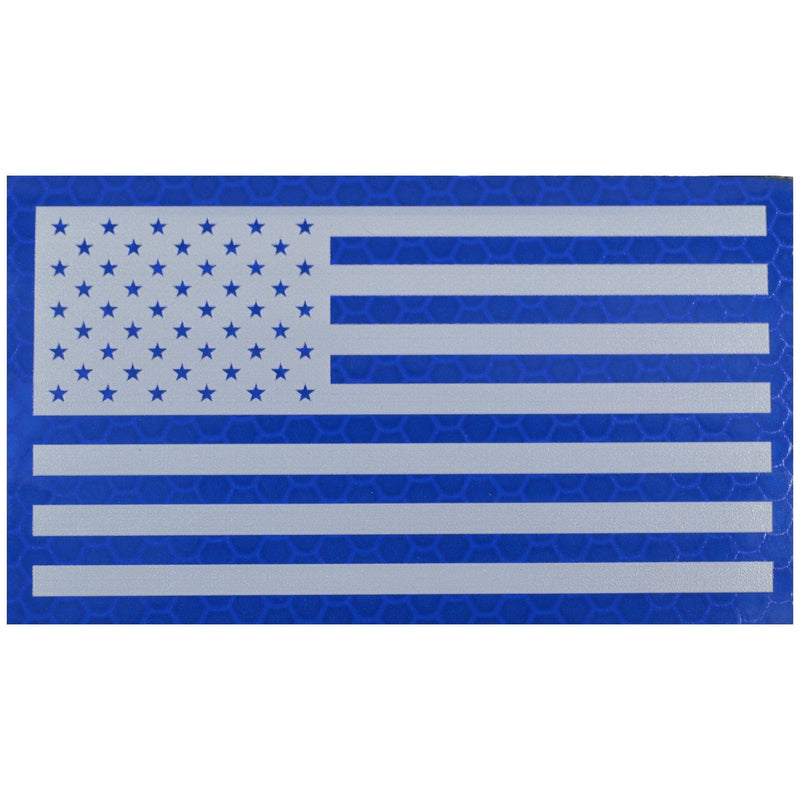 Tactical Gear Junkie Patches Forward Reflective Printed Blue/White USA Flag - 2x3.5 Patch