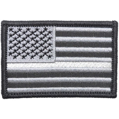 Thin Silver Line Corrections American Flag - 2x3 Patch