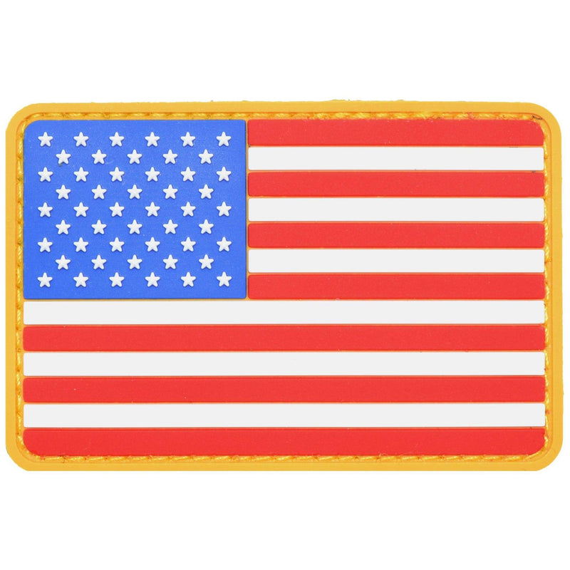 Tactical Gear Junkie Patches USA Flag Full Color - 2x3 PVC Patch - Rounded Corners