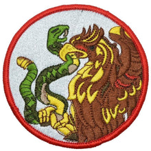 Mexican Eagle and Snake - 4in Round Patch