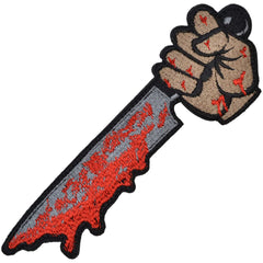 Hand with Knife - 6 inch Patch