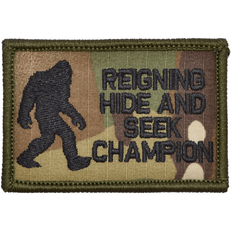 Tactical Gear Junkie Patches MultiCam Reigning Hide and Seek Champion Bigfoot - 2x3 Patch