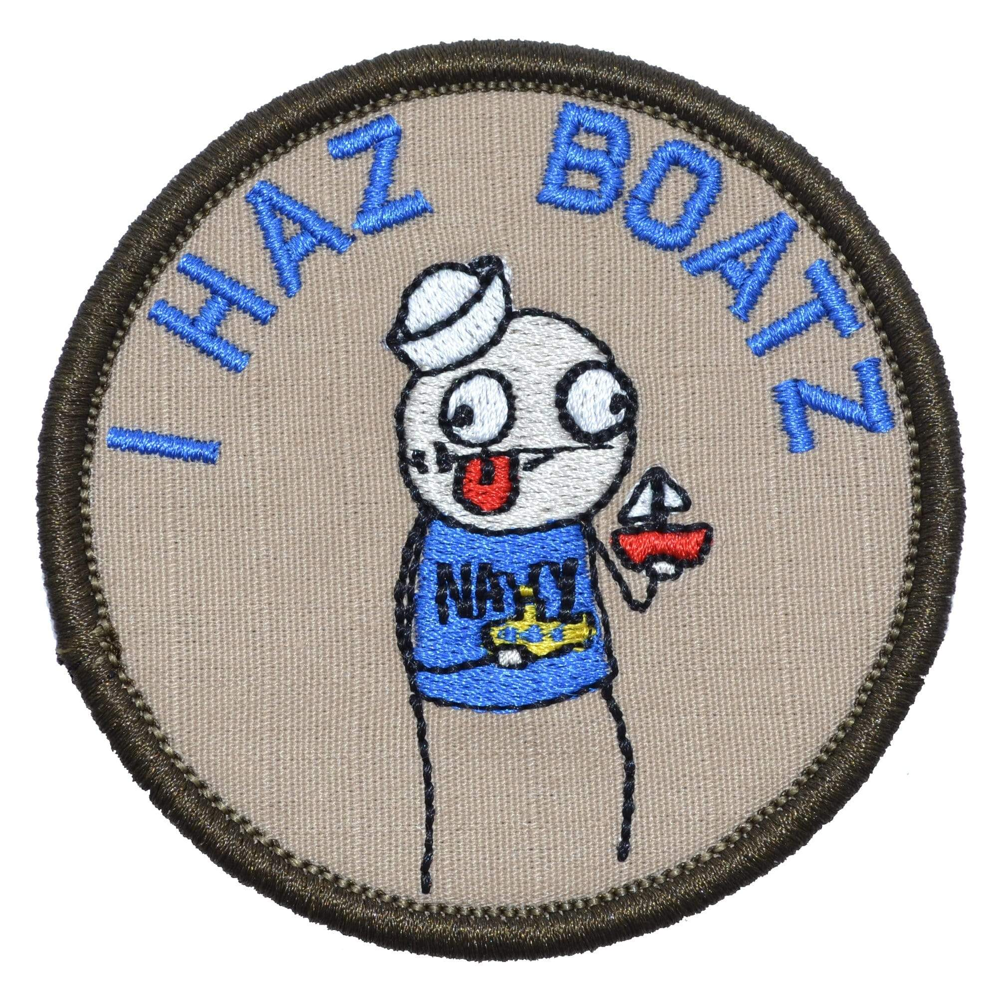 "Sketch's World © US Navy ""I Haz Boatz"" - 3.5 in Round Patch"
