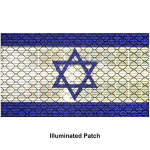 Reflective Israel Flag - 2x3.5 Patch