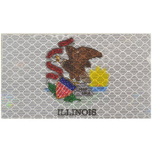 Reflective Illinois State Flag - 2x3.5 Patch
