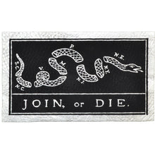 Join, or Die Snake - 2.25x3.5 Leather Patch - Multiple Colors
