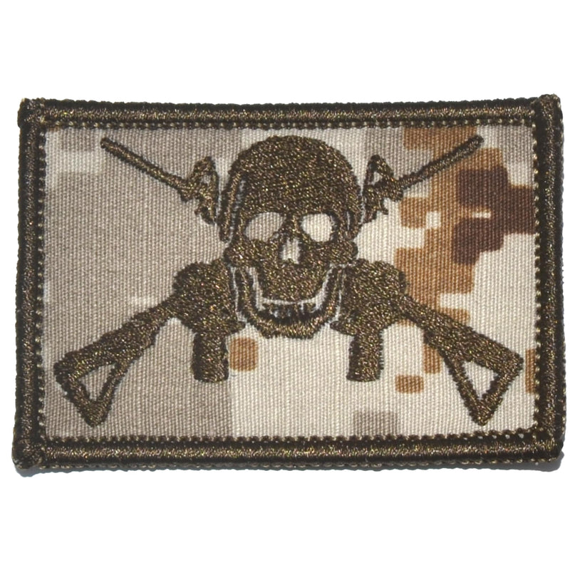 Tactical Gear Junkie Patches MARPAT Desert Jolly Roger Cross M4s - 2x3 Patch