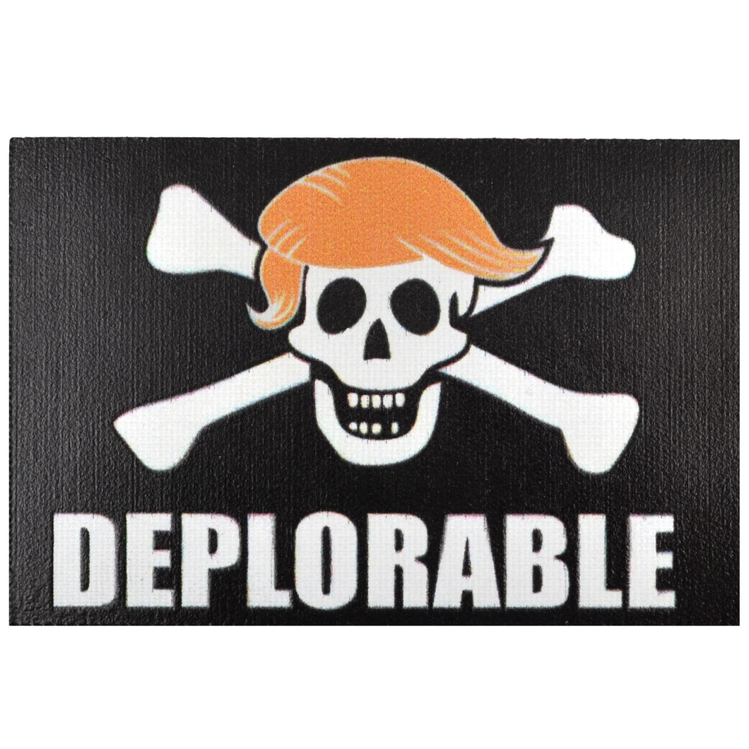 Deplorable Pirate Trump - 2x3 Printed Patch