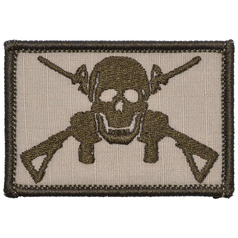 Tactical Gear Junkie Patches Desert Sand Jolly Roger Cross M4s - 2x3 Patch