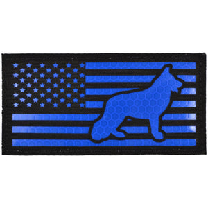 USA Flag with K9 Laser Cut - 2x4 CORDURA® Patch